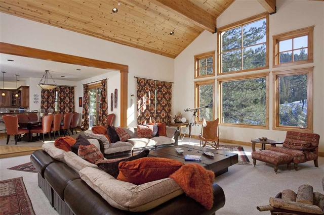 Squaw Valley Home with View of Painted Rock and Overlooking Squaw Creek
