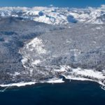 Got Snow?? An aerial view of Tahoe City